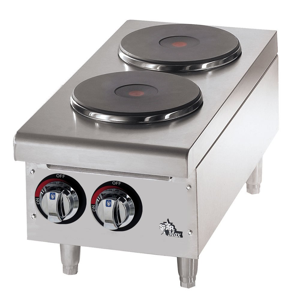 Star 502FF 12 Inch Electric Hotplate with (2) Burners and Infinite Heat, 208-240v/1ph