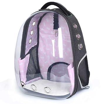 CHANG Mochila transparente para gatos y mascotas, mochila portátil Panoramic Kitty, bolsa de viaje