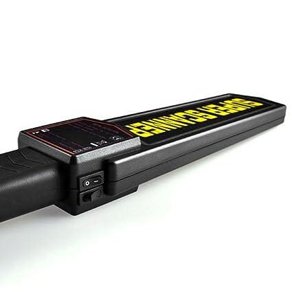 ReaYouth - Detector de metales de seguridad de mano - Escáner de alarma y vibración de metal de alta sensibilidad - Aparato de seguridad de mano: Amazon.es: ...