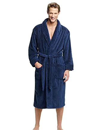 a3576be195 Amazon.com  Hanes Classics Big and Tall Soft Touch Fleece Robe  Clothing