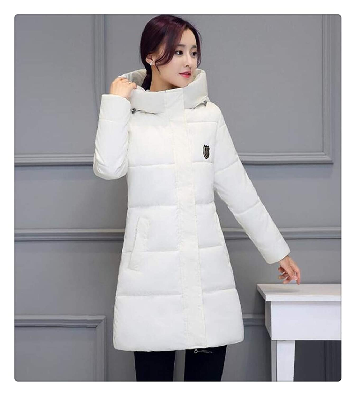 White Haiyinqux White Winter Coat Women Long Parka Fashion Students Slim Female Clothing S2XL