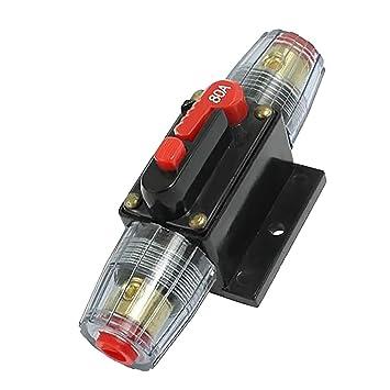 amazon com monkeyjack 20 100a 12v dc circuit breaker fuse for car rh amazon com