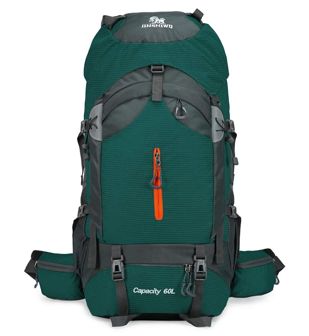 vert  RJHY Sac de Montagne Multifonctionnel, Sac de Voyage 60L, Grande capacité, Sac à Dos, Sac à Dos étanche pour Sports, Sac à Dos de Camping