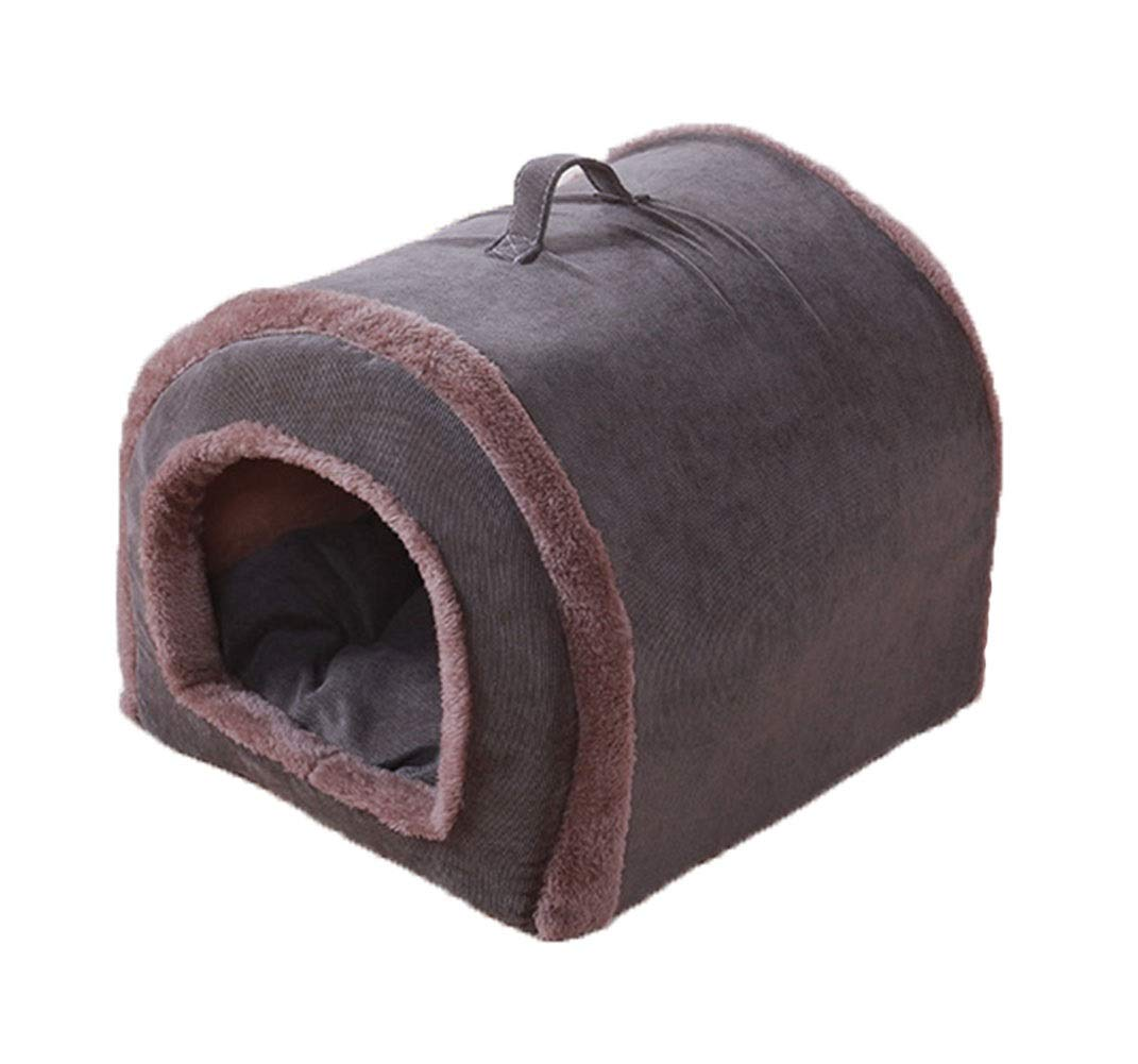 L Pet Supplies Tent Bed Pet Kittens Cushioned Comfortable Nesting Dog Puppy Kitten Sleeping pad Warm cave (Size   L)