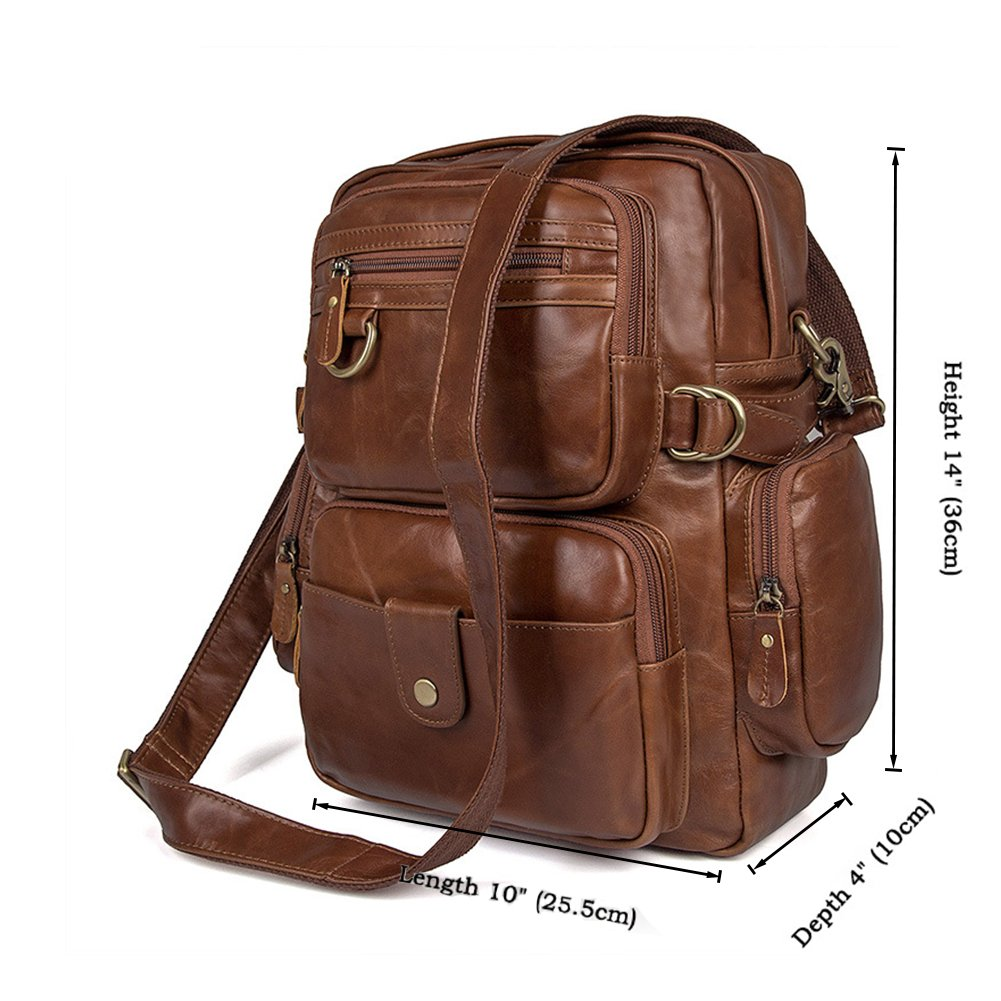 MuLier Sling Backpack Men Genuine Leather Bag Crossbody Shoulder Bag For Men by MuLier (Image #7)