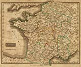 1820 School Atlas | France. Philad. Published by M. Carey & Son, 1820. | Antique Vintage Map Reprint