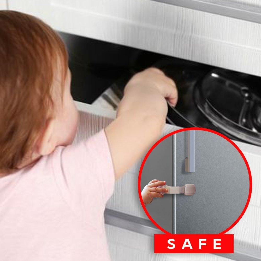 Niño bebé seguridad cerraduras pantalla a prueba para gabinetes ...
