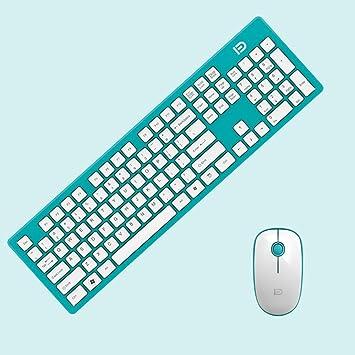 cdycam teclado inalámbrico ultra delgado y ratón óptico inalámbrico USB Dongle Combo Set Bundle: Amazon.es: Electrónica