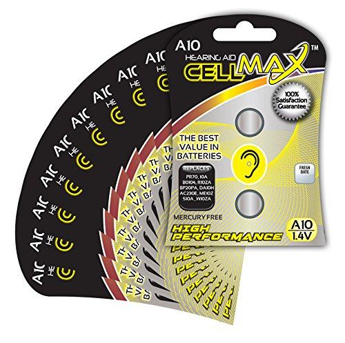 CellMax CM-A10-BP2 - (20) Zinc Air Hearing Aid A10 Batter...