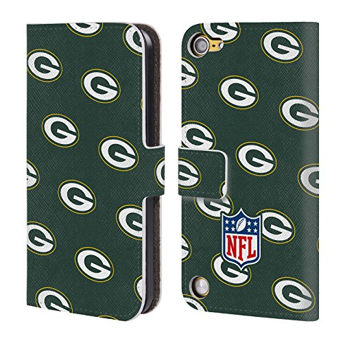 Official NFL Patterns 2017/18 Green Bay Packers Leather Book Wallet Case Cover For iPod Touch 5th Gen / 6th Gen