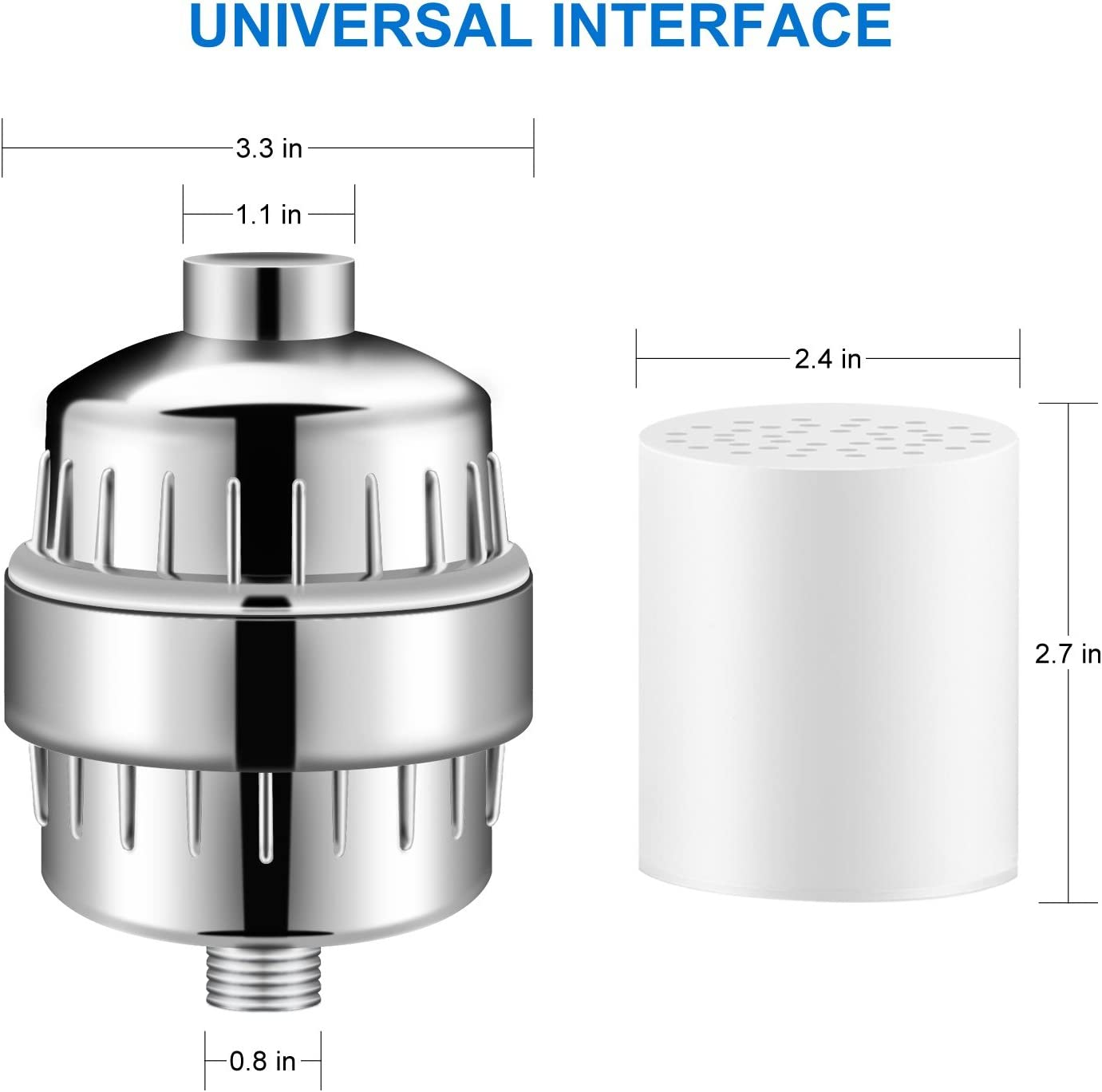 TTMOW Filtro para Ducha Universal con 15 Etapas Filtro Purificador ...