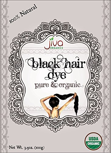 Jiva USDA Organic Black Hair Dye 100 Gram - Chemical Free & Ecocert Certified