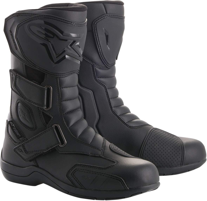 Black 46 Motorcycle boots Alpinestars Radon Drystar Black