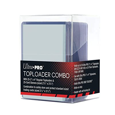Ultra Pro Toploader Combo - Includes Toploaders, Card Sleeves & Storage Box (25): Sports & Outdoors