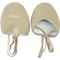 s.lemon Durable Fur Free Lyrical Dance Ballet Half Soles Gymnastics Shoes