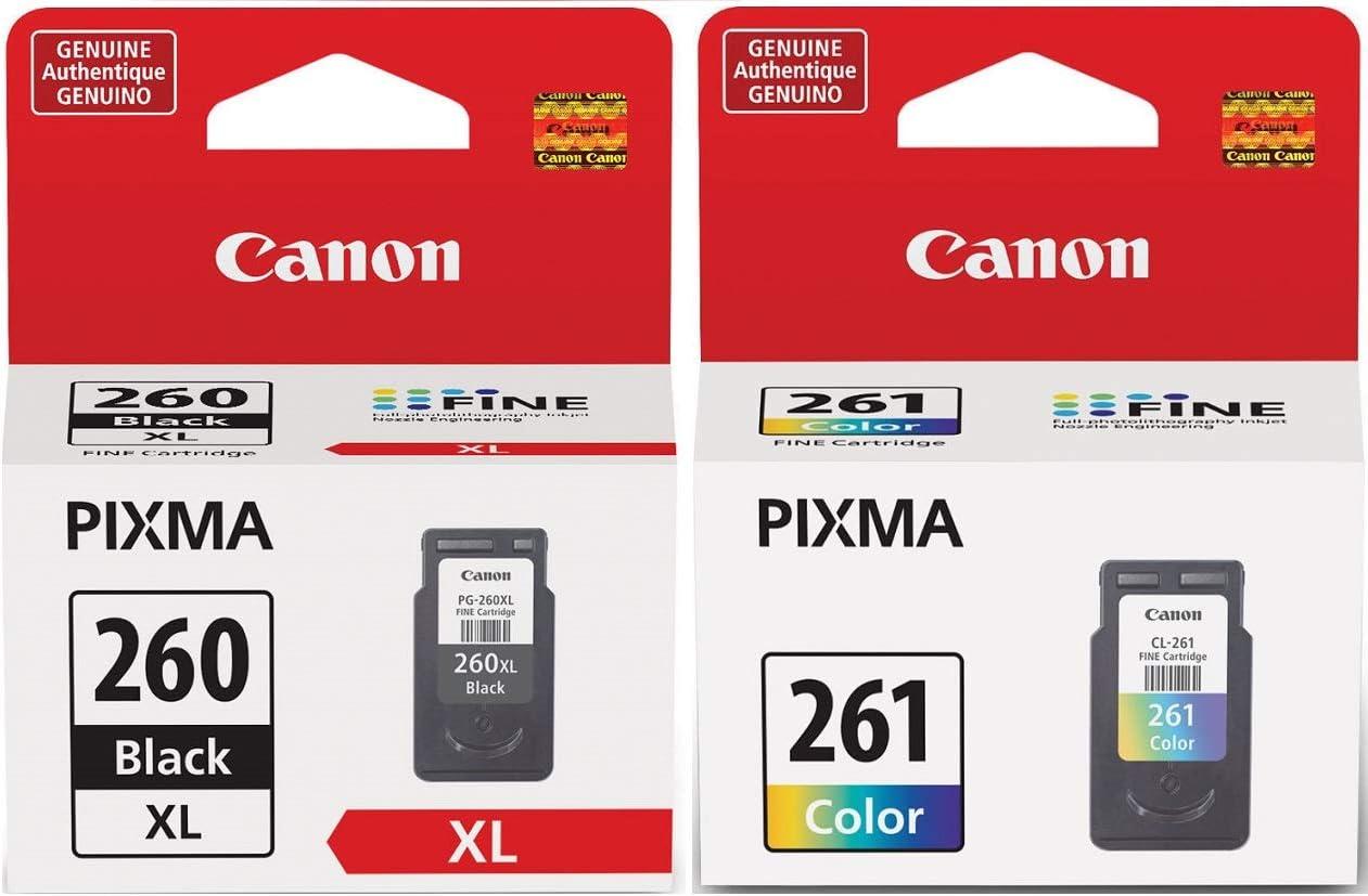 Canon PG-260 XL Black Ink Cartridge + CL-261 Color Ink Cartridge