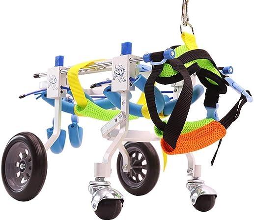 Lunyi Silla de ruedas para mascotas ajustable para discapacidades ...