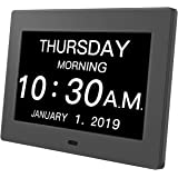 Day Clock Premium Digital Alarm Clock with Extra Large LCD Screen ,Electronic Wall Clock & 5 Alarm Options,Perfect for Senior