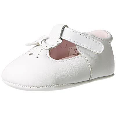 Baby Deer Leather T-Strap Flat (Infant)