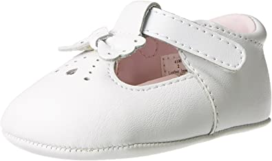Baby Deer Leather T-Strap Flat (Infant