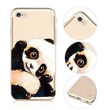 eed408eb57e iPhone 6S Koala - Carcasa, qianyang iPhone 6 6S de animales de dibujo  animado - Funda para iPhone 6 6S claro transparente TPU Bumper Cartoon  Animals Funda: ...