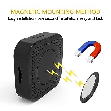 HUIGE WiFi cámara Oculta Bluetooth Altavoz 1080P cámara espía con 140 ° rotar Lente y Movimiento Detectio: Amazon.es: Hogar