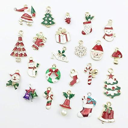 Silver Alloy Hanging Snowflake Rhinestone Christmas Tree Pendants Ornaments