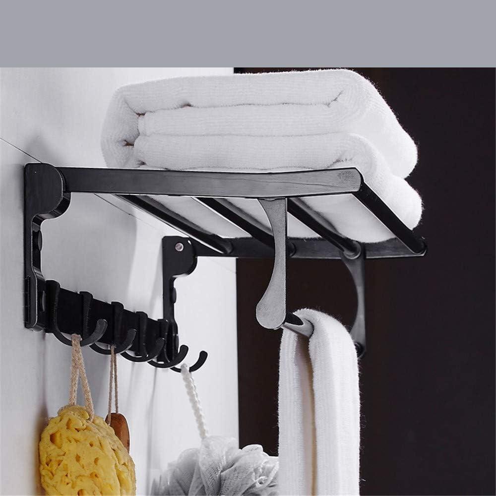 Accesorios de baño Toallero negro sin perforaciones espacio aluminio toallero inodoro de baño conjunto de colgante de baño A1