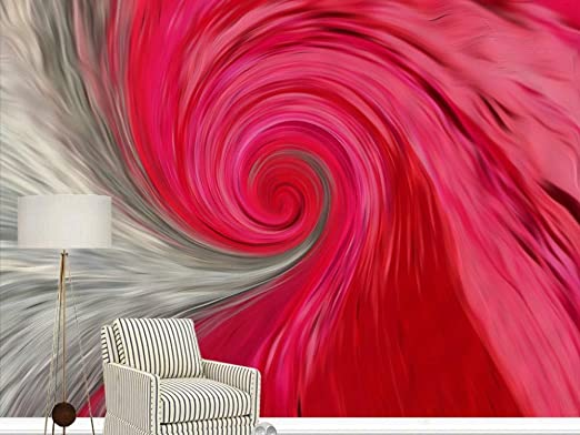 Custom Any Size Pink Modern Abstract Abstract Spiral
