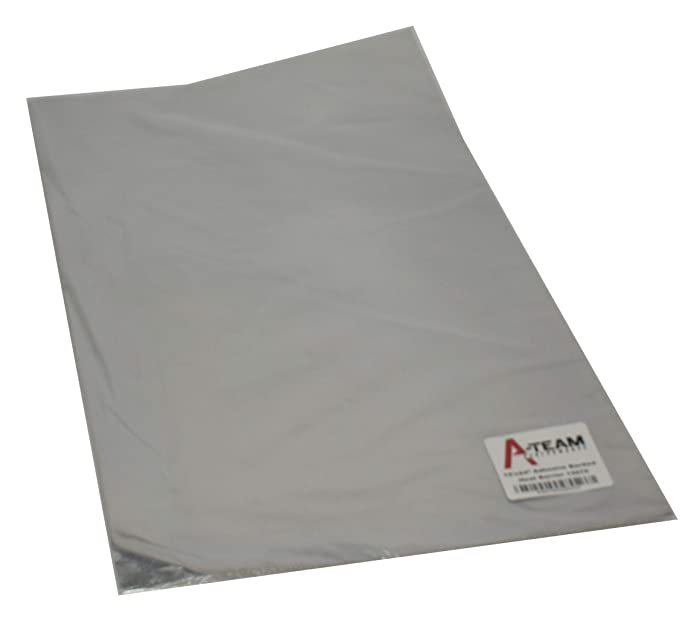 "A-Team Performance 13575 Adhesive Backed Aluminized Fiberglass Heat Shield Barrier Up To 2000 Degrees Fahrenheit Multi-Purpose Compatible with Firewall Hoods Hoses and Doors 12"" x 24"""