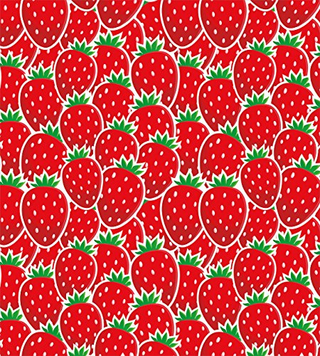 Fruits King Size Duvet Cover Set by Ambesonne, Strawberry Themed Botany Seeds Yummy Food Organic Growth Diet Health Print, Decorative 3 Piece Bedding Set with 2 Pillow Shams, Red Hunter Green by Ambesonne (Image #1)