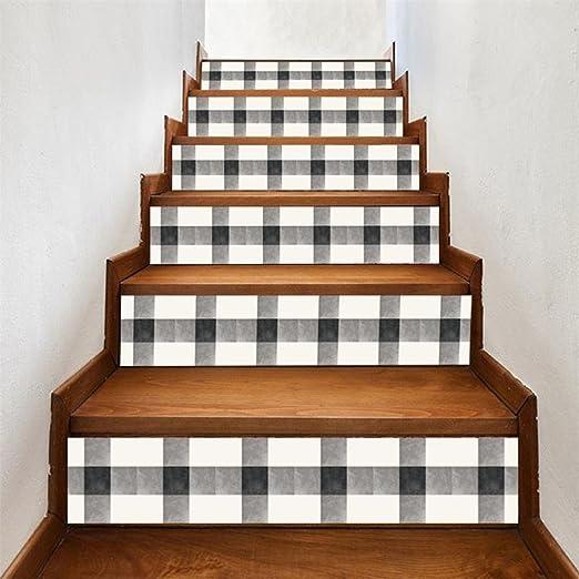 Y56 6pcs Escaleras Escaleras Riser Suelo Pegatinas DIY Pared Pegatinas Mode Escaleras Calcomanía Pared Decorativo para escaleras Calcomanía Decor Decoración: Amazon.es: Juguetes y juegos