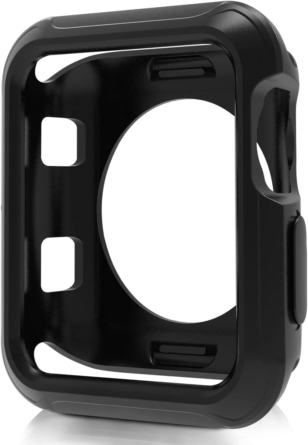 JuziTech Compatible Apple Watch Case 38mm,Shock-Proof and Shatter-Resistant Protector Bumper iwatch Case Compatible Apple Watch Series 3/2/1,Nike+,Sport,Edition (Black, 38mm)