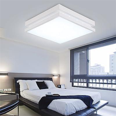 ANGEELEE Plafonnier LED Lumière Chambre Minimaliste Moderne Et Chaleureux  Salon Rectangulaire à Distance Du0027éclairage Lampes Restaurant