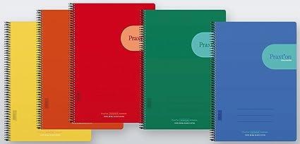 Cuadernos Espiral PRAXTON Innovación, Folio 80H Cuadros 4 mm. Tapa ...