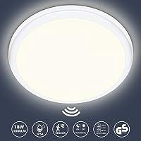 Oraymin Plafón LED 18W con Detector de Movimiento y Sensor Crepuscular, 1800LM…