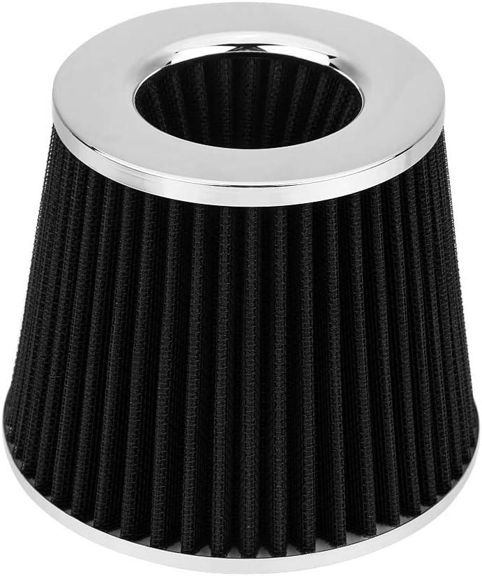Universal 76mm 3 Aluminum Air Intake Kit Black Cold Air Intake Pipe Filter