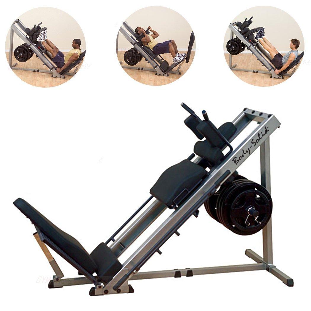 Body-Solid Leg Press - Calf - Hack Squat Machine GLPH1100 Silver (NEW-2018) by Body-Solid