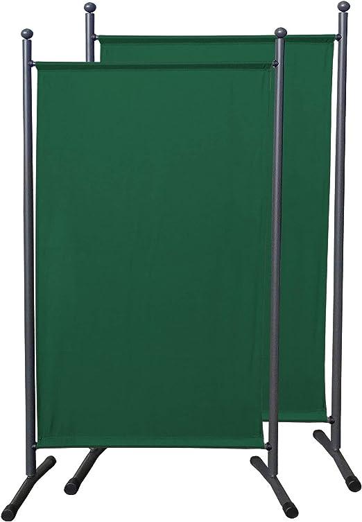 QUICK STAR 2 piezas Paravent 180 x 78 cm tela separador de ambientes partición jardín grande Biombo tabique balcón privacidad Verde: Amazon.es: Jardín