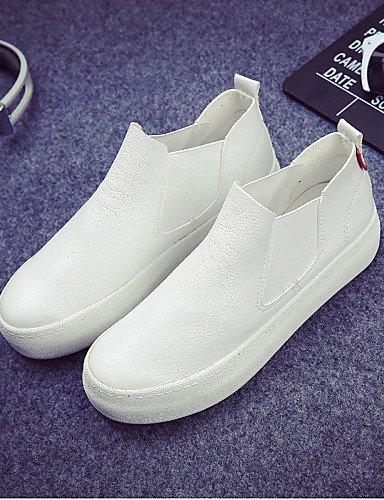 White 5 negro Cn35 Punta Eu39 Plataforma De Zapatos Black Cordones 5 Zq Cn39 Creepers us5 Mocasines Uk6 Exterior Eu36 Uk3 Sin Casual Napa Mujer Redonda us8 nS6C4