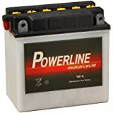YB7-A Powerline Batterie Moto 12V 7Ah YB7A