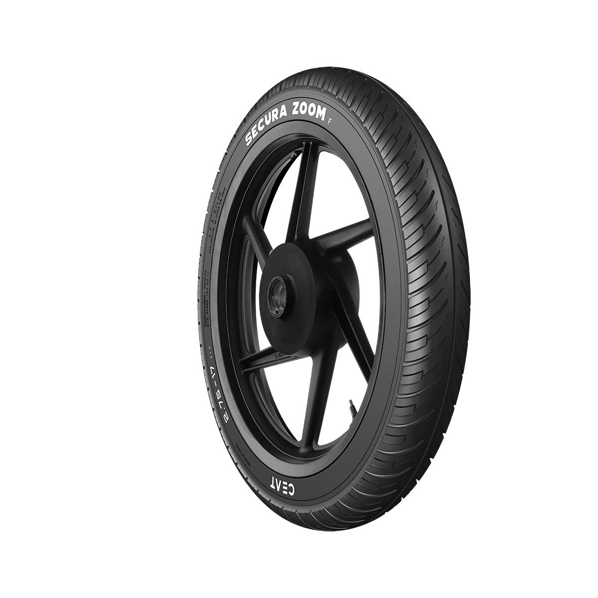 Ceat Secura Zoom F  90/90 -17  49P Tubeless Bike Tyre, Front (Home Delivery) product image