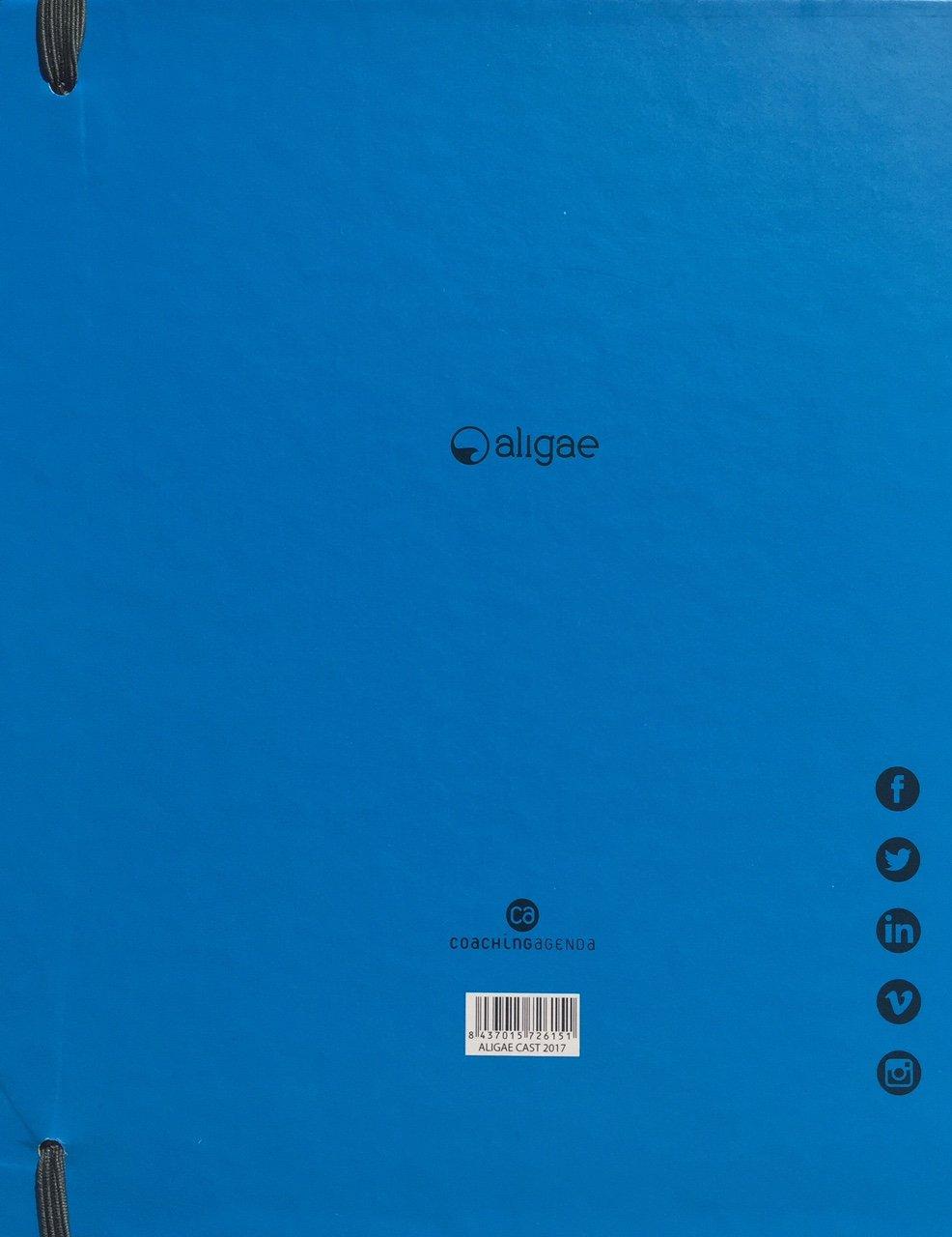 CA CoachingAgenda, ALIGAE 2017 Agenda anual, Castellano, Cubiertas color azul.