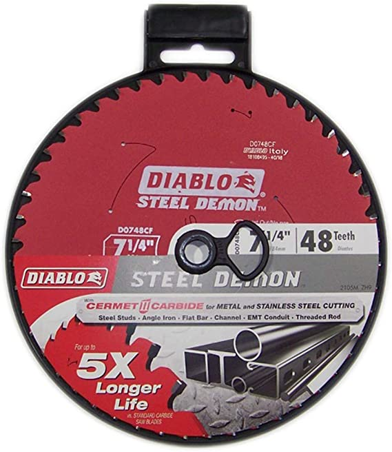 Freud D0748CFA Diablo Steel Demon 7-1//4 48 Tooth TCG Ferrous Metal Cutting Blade