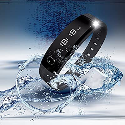 Fitness Tracker, Pedometer Warmhoming Bluetooth Sports Bracelet Activity Trackers, Fitness Track with Sleep Monitoring work for Android and iOS (Black)