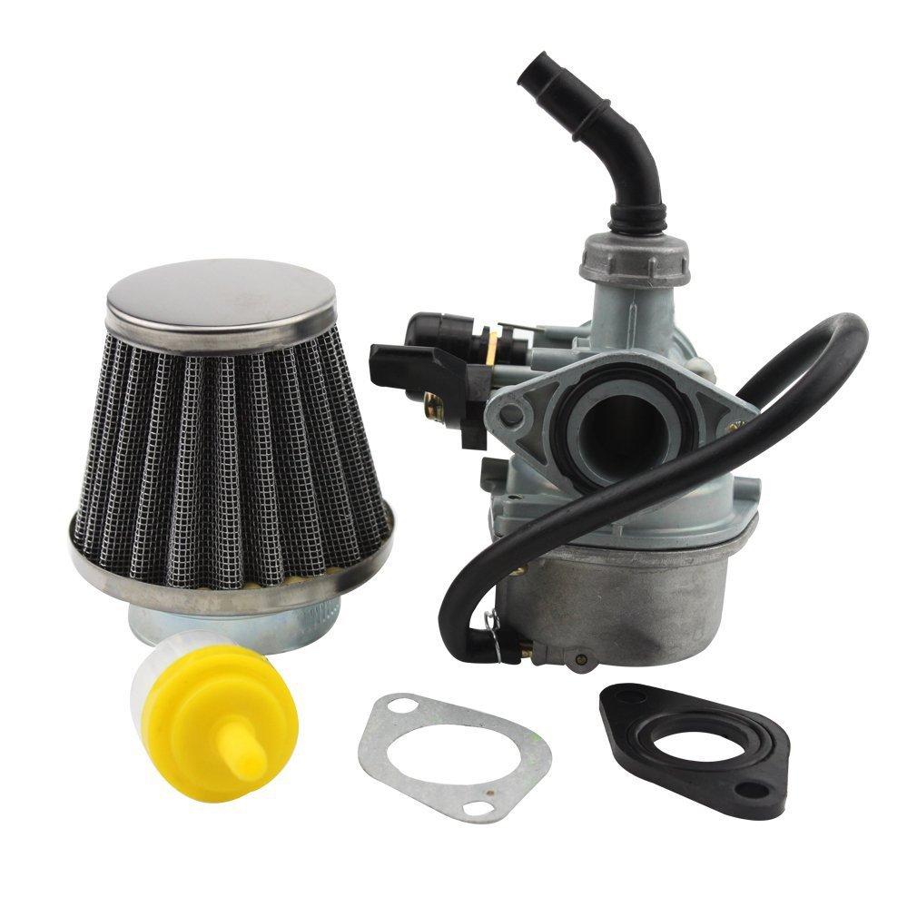 GOOFIT 19mm Carburateur avec filtre /à air pour 50cc 70cc 90cc 110cc ATV Go-kart Carb