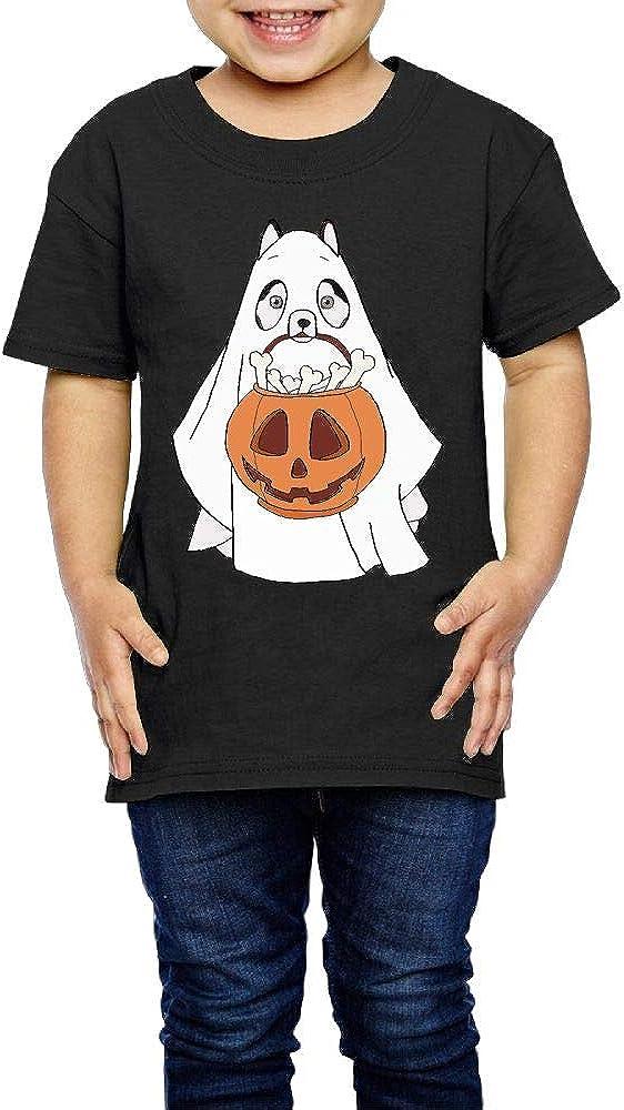 XYMYFC-E Husky Dog Ghost Halloween 2-6 Years Old Kids Short Sleeve T Shirt