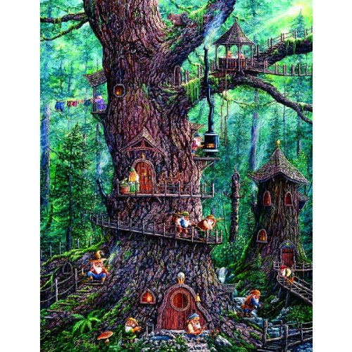 Forest Gnomes - 1000 Large Piece Jigsaw Puzzle By Sunsout Inc.