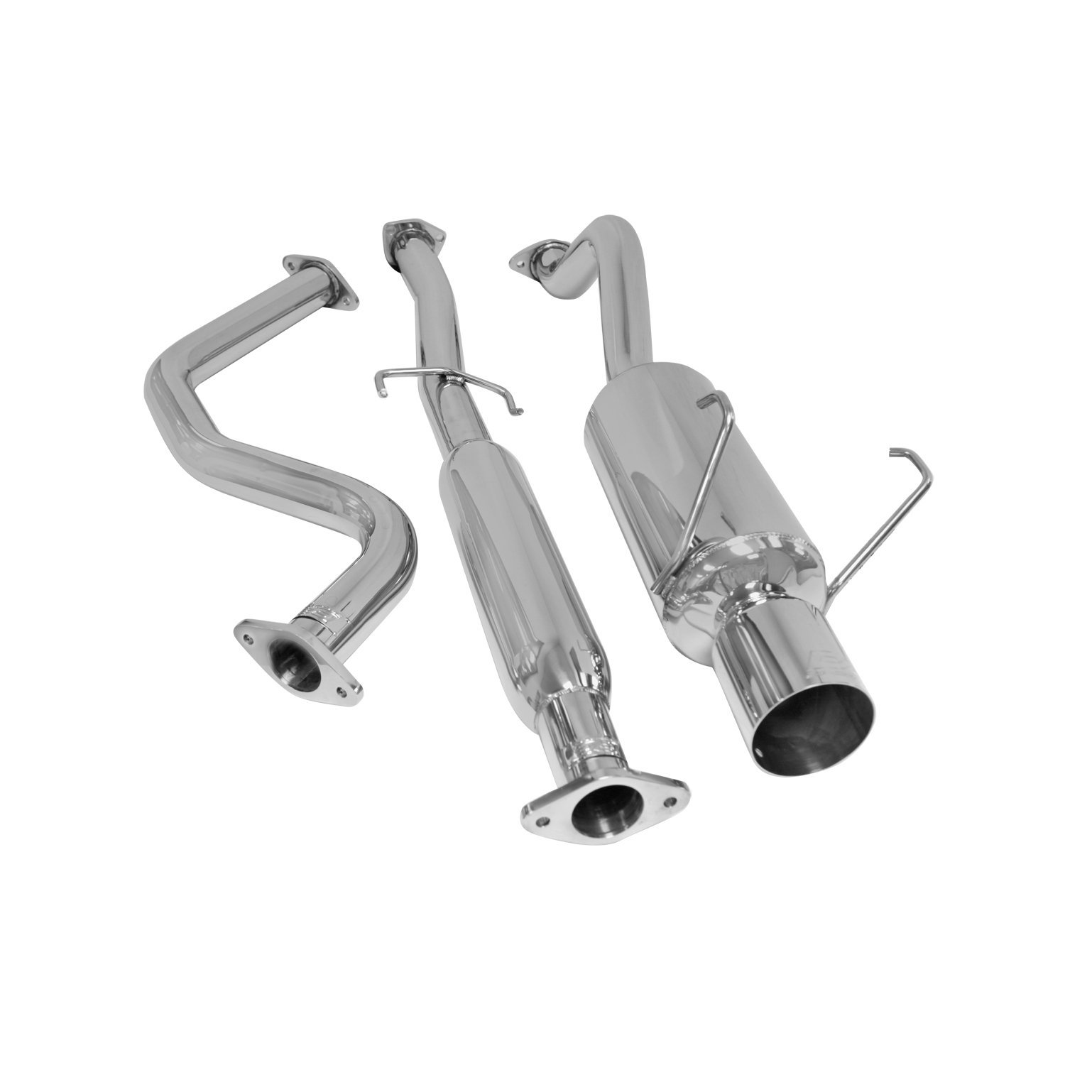 DC Sports SCS6301 Saab 92X-Aero Polished Stainless Steel Single Canister Cat-Back Exhaust System