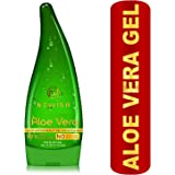 Newish Pure Aloe Vera Gel for Face Glow, Hair Growth & Skin Moisturizer for Women & Men